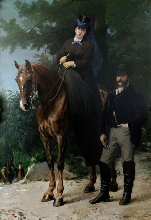 Ritratto di Luigi Ponti ed Elisabetta Sottocasa - Eleuterio Pagliano, 1870