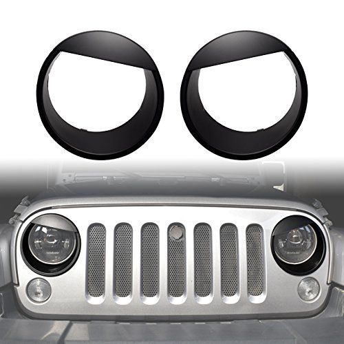Diytuning Angry Eyes Front Lights Trim Cover Headlight Bezels For