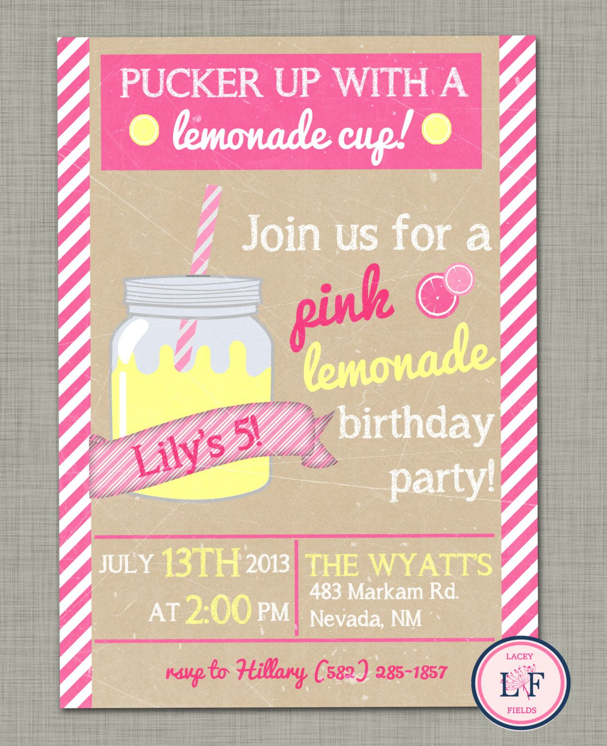 Lemonade birthday invitation google search party pinterest lemonade birthday invitation google search stopboris Images