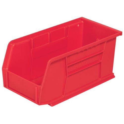 Amazon Com Akro Mils 30230 Plastic Storage Stacking Hanging Akro Bin 11 Inch By 5 Inch By 5 Inch Red Case Of 1 Plastic Storage Storage Plastic Storage Bins