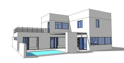 A twostory threebedroom concreteICF house plan has all the