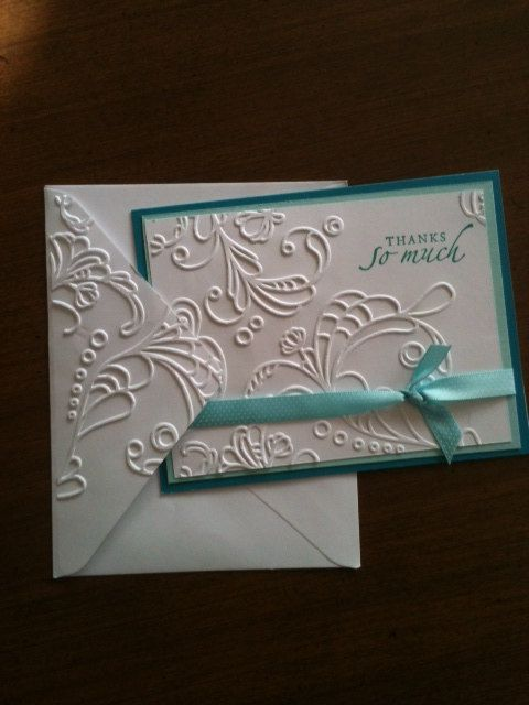 Items similar to Elegant Thank You Notes  Stampin Up Pack of 6 on Etsy