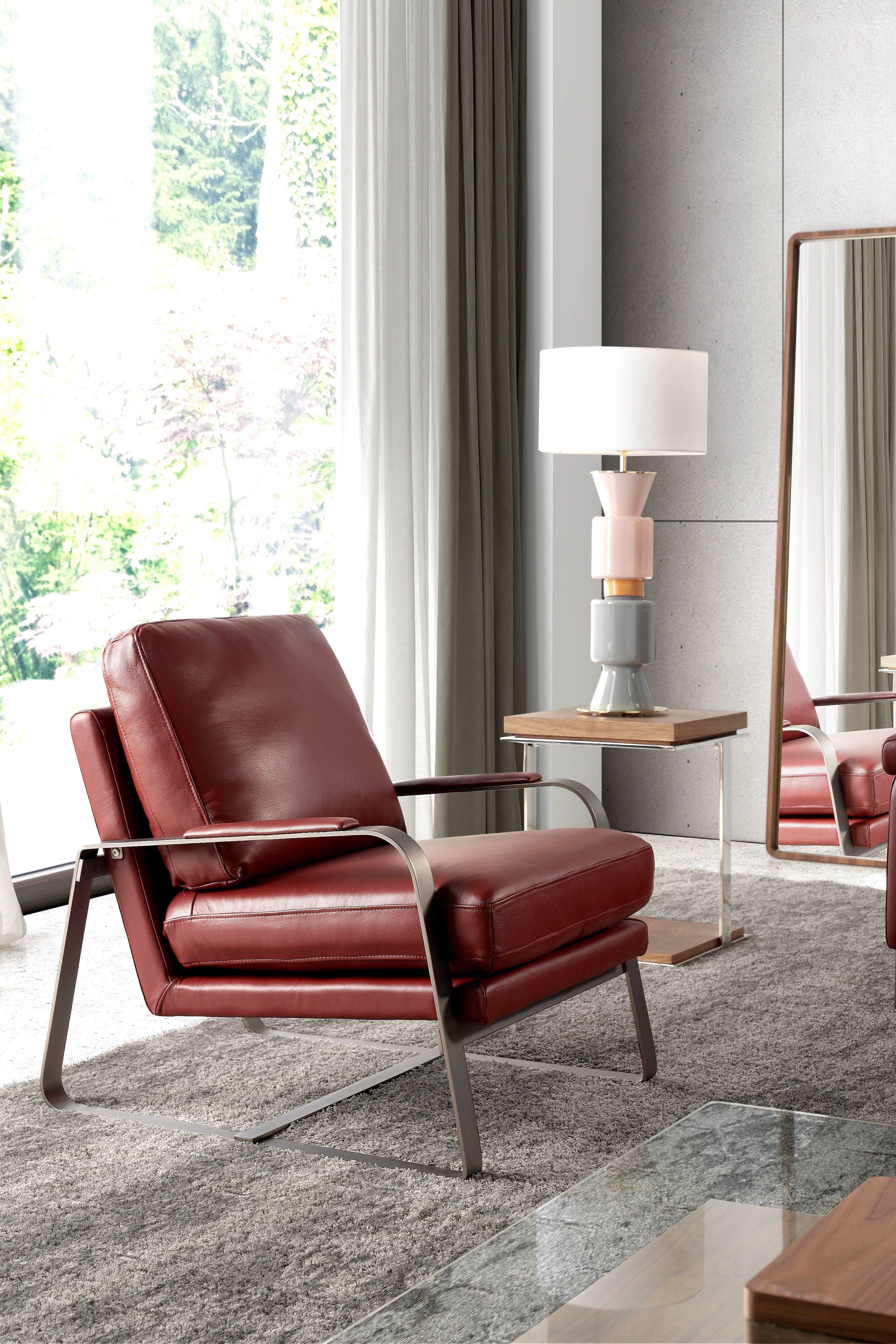 Design-Sessel aus braunem Echtleder #wohnzimmer #modern # ...