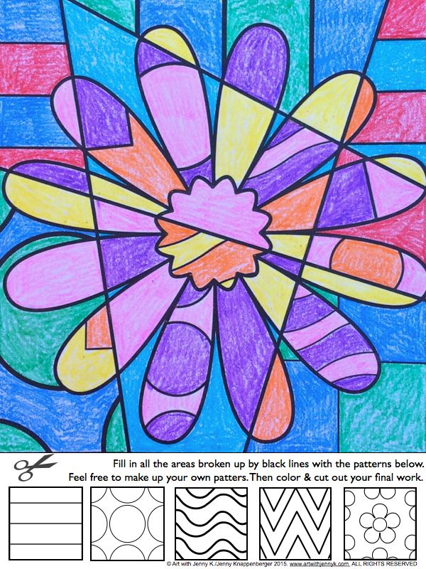 Easy And Fun Art Integration Lesson For Spring Interactive Coloing Sheets Kids Love To Color And These Sheets Will Real Pop Art For Kids Art For Kids Pop Art