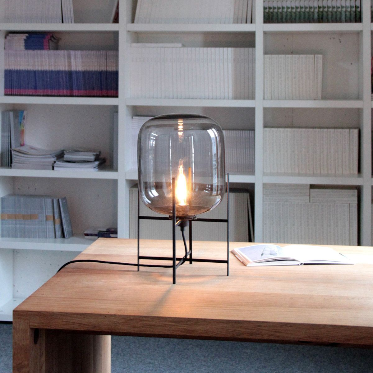 Pulpo oda petit gris ambiance l i g h t pinterest lamp oda small table lamp is designed by sebastian herkner for pulpo with hand blown glass corpus available in matt white grey amber or aubergine geotapseo Choice Image