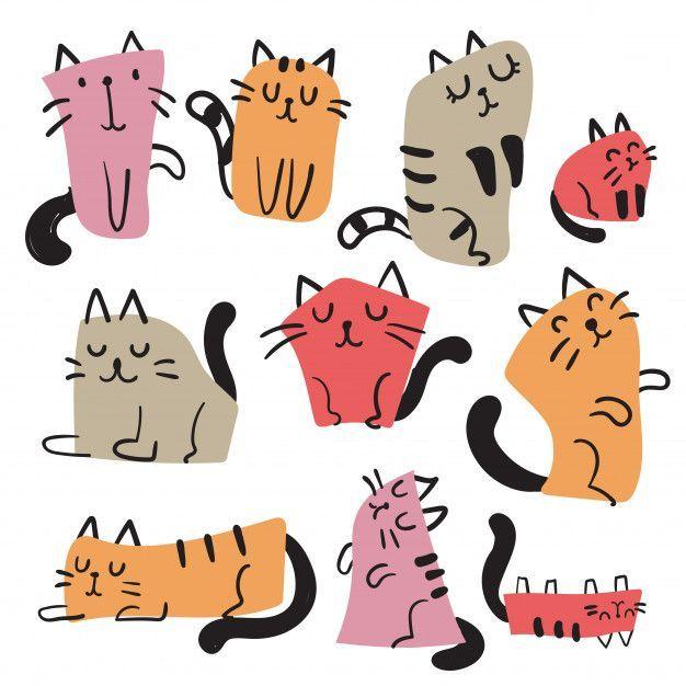 Character Illustration Cat Digital Illustration