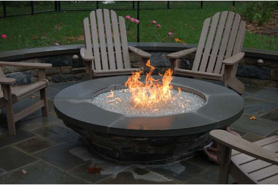 diy natural gas rectangle fire pit