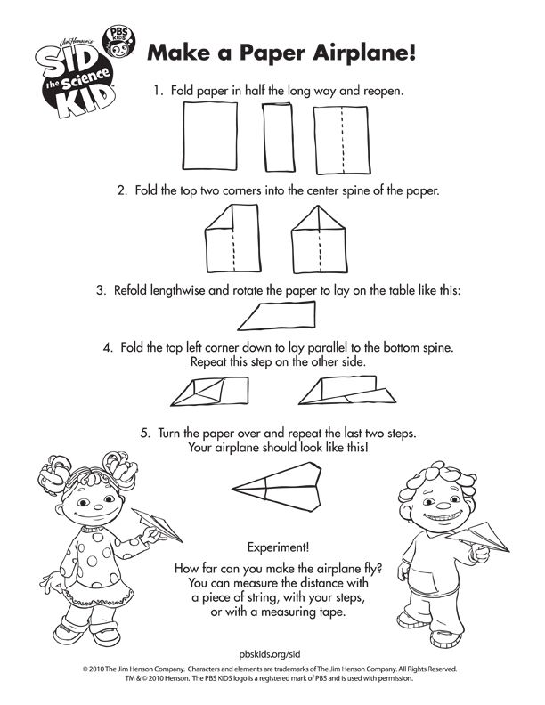 SID THE SCIENCE KID . Funbook | PBS KIDS | °‿•✿ Carta piegata ...