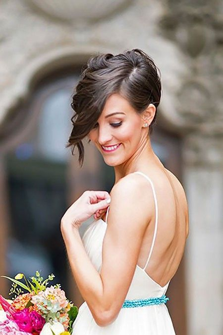 Bridal Hairstyles for Short Hair #shortbridalhairstyles