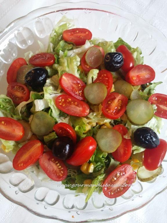 #Saladecomposée à l'#huiledesésames et #Citronvert http://www.gourmandiseassia.com/archives/2015/07/21/32389274.html