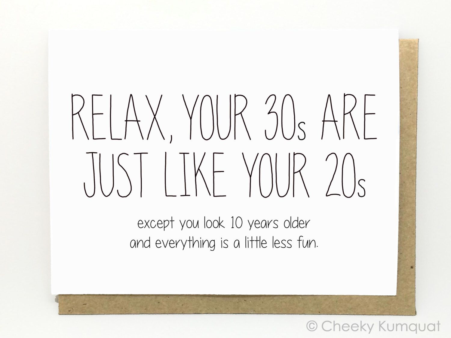 Funny birthday card 30th birthday card birthday card relax by funny birthday card 30th birthday card birthday card relax by cheekykumquat on kristyandbryce Image collections