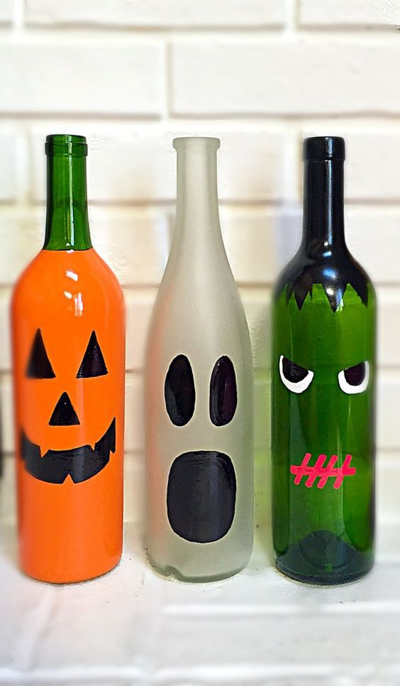 Halloween decor diy - My Garden Easy halloween, Bottle and - halloween decorations ideas diy