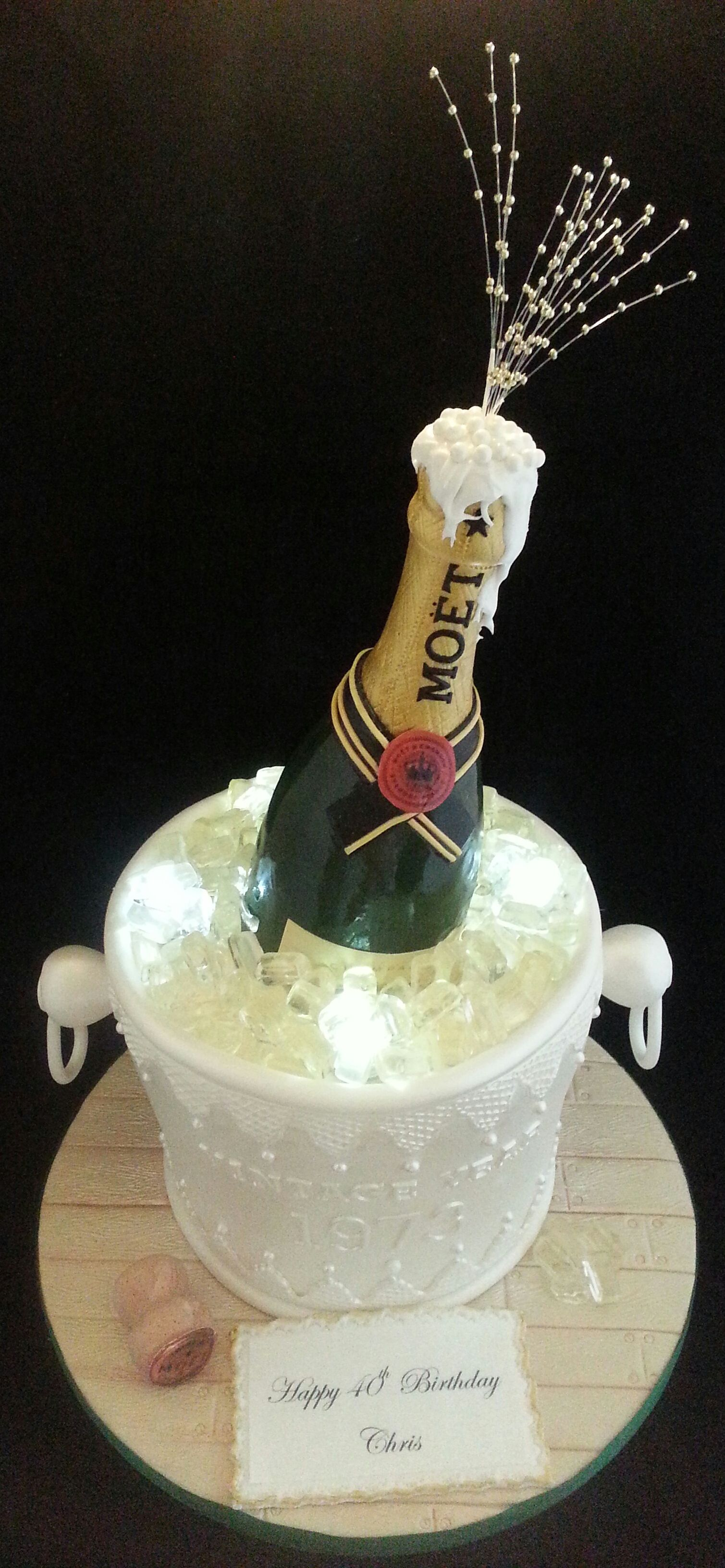 Champaign Ice Bucket Cake
