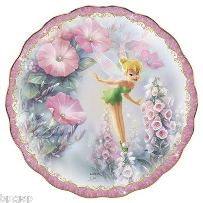 Disney Tinkerbell Lena LIU TIP TOE Magic Bradford Exchange Plate