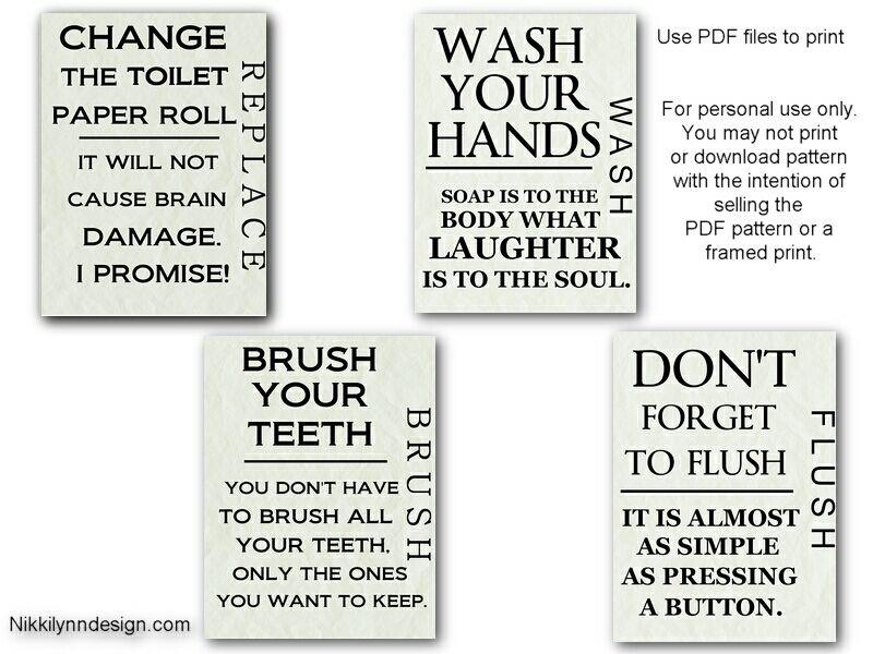 Bathroom Sayings Wall Art.Printables For Bathroom Printable Bathroom Wall Art In