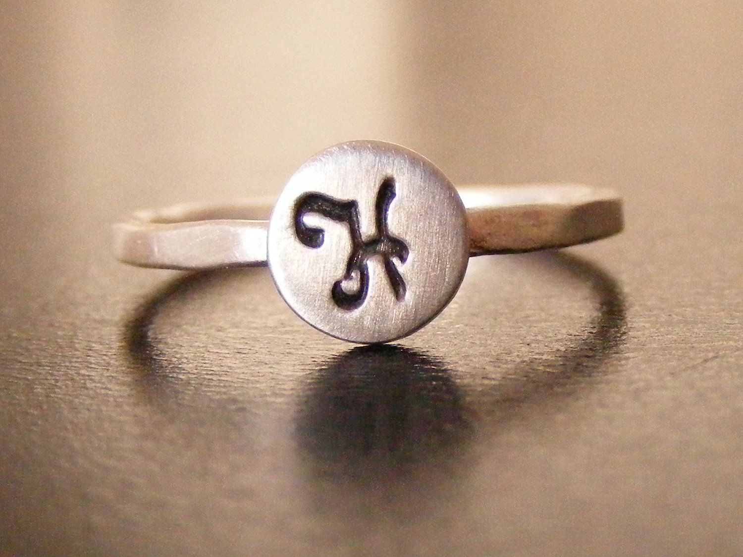 Initial ring I would love to stack an A and a C Initial