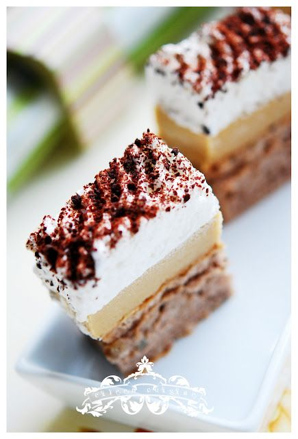 Coffee and meringue cake