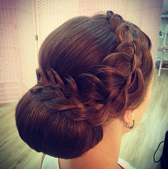 Competition Hair, Bridal Hair Updo, Big Bun Hair