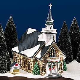 Department 56 Products Holy Spirit Church View Lighted Buildings Snow Village Christmas Village Display Department 56 Christmas Village