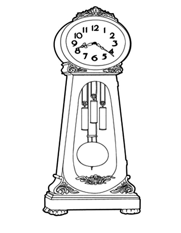 How To Draw Grandfather Clock Coloring Pages Color Luna Coloring Pages Grandfather Clock Melting Clock