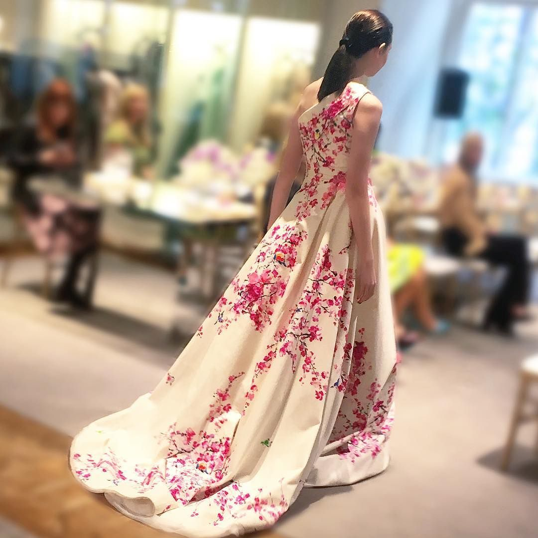 We\'re still swooning over this cherry blossom gown from ...