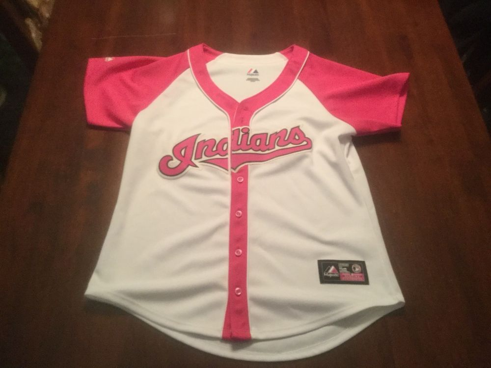 wholesale dealer 91a9d 643b9 Cleveland Indians SEWN Majestic Womens Small Jersey MLB ...