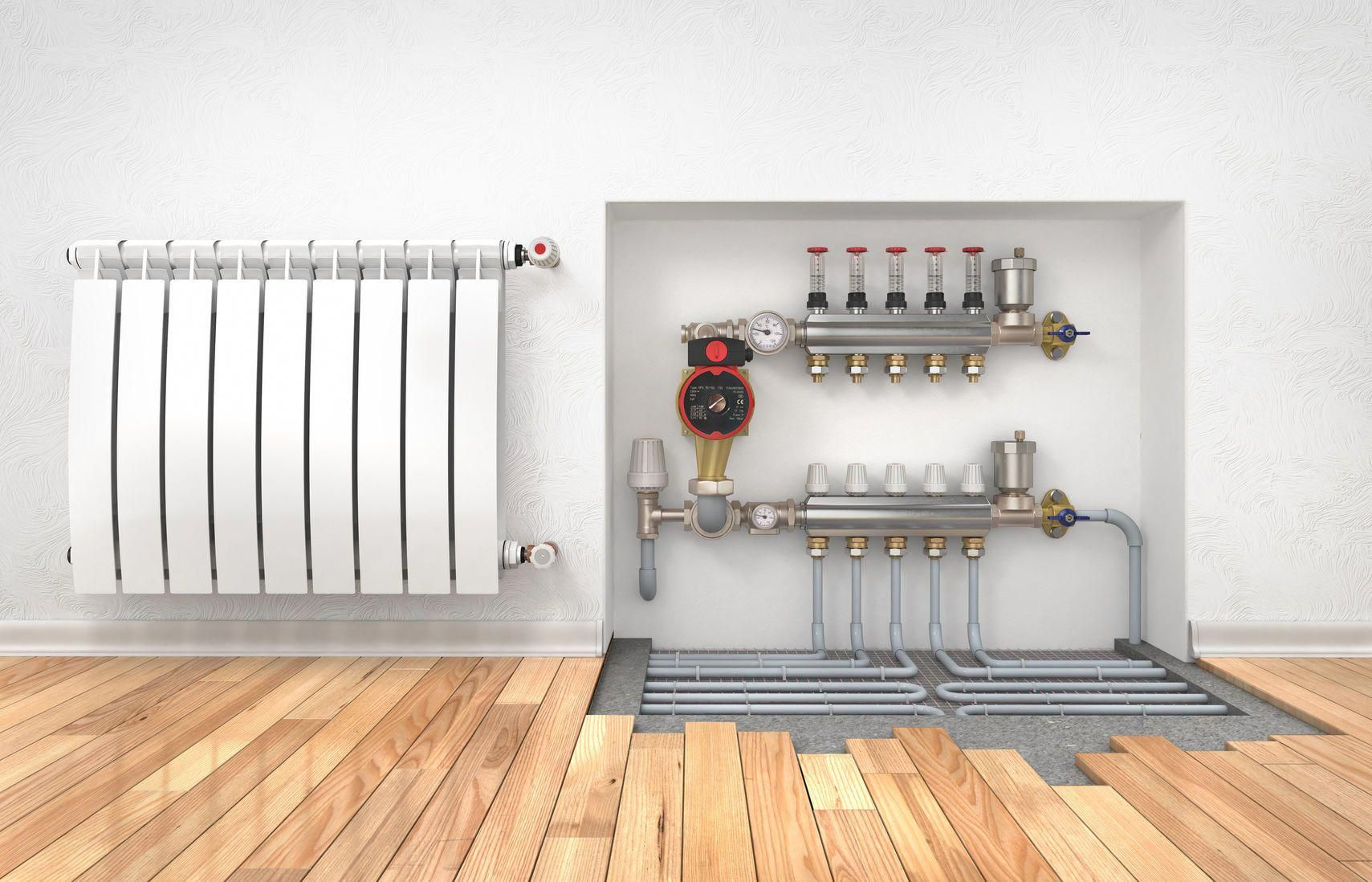 Photo  Diagram  Heating Concept For Room And Floor