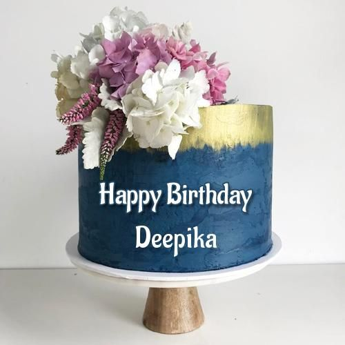Happy Birthday Wishes Royal Designer Cake With Name Deepu Deepika