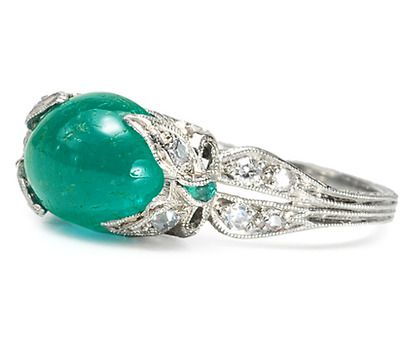 All Wrapped Up  - Evocative Emerald Diamond Ring - The Three Graces  love love LOVE