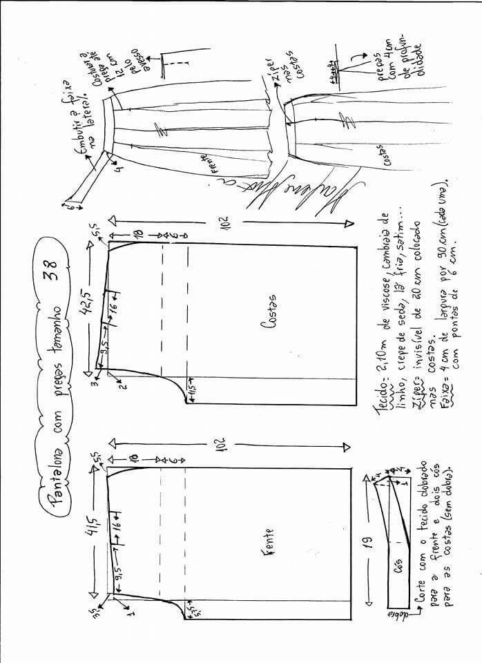 Pin de Zauyah Sudin en Sewing - Pants | Pinterest | Trazos, Costura ...