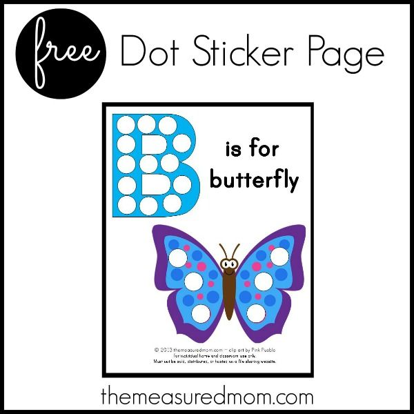 B Is For Butterfly - Free Printable
