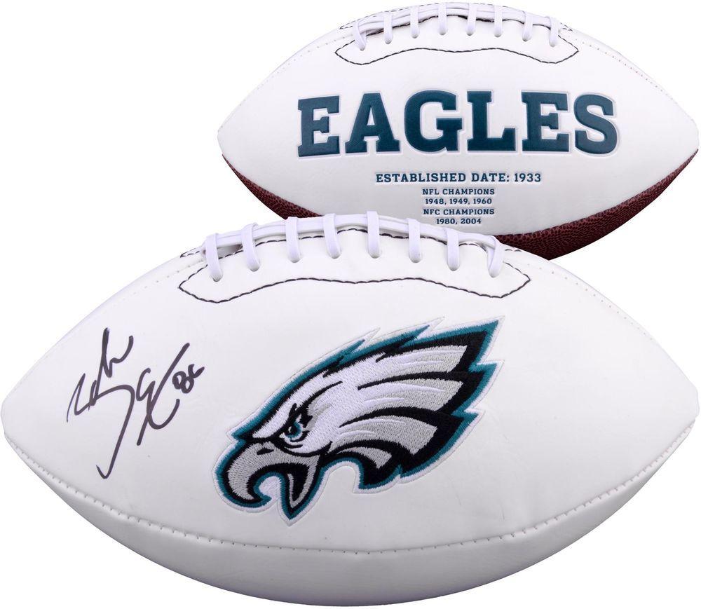 e22c83aa668 Zach Ertz Philadelphia Eagles Autographed White Panel Football - Fanatics