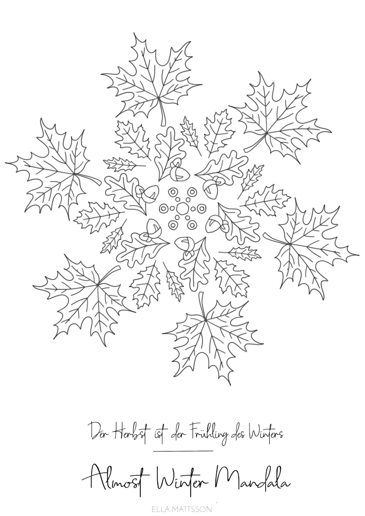 Almost Winter Ausmalbild Mandala Fensterbilder Vorlagen Ausmalen Ausmalbilder