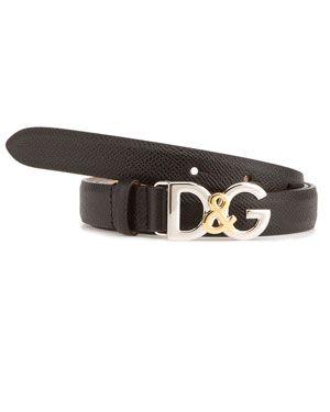 Dolce & Gabbana Women's Leather Logo Belt