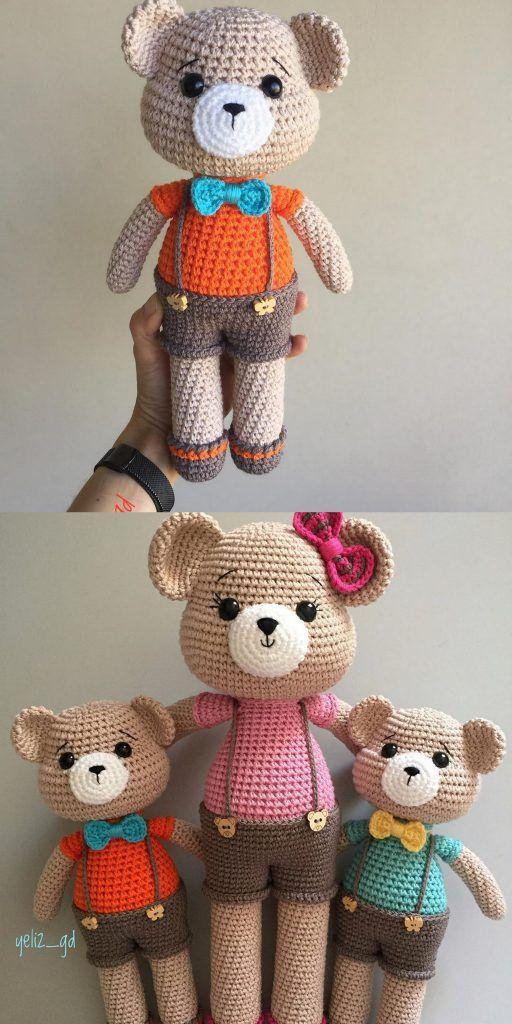 Amigurumi bear free crochet plush pattern – Free Amigurumi Patterns #amigurumimodelleri