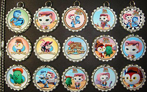 0243cad7a65ab 15 Sheriff Callie Silver Bottle Cap Pendant Necklaces Set 1