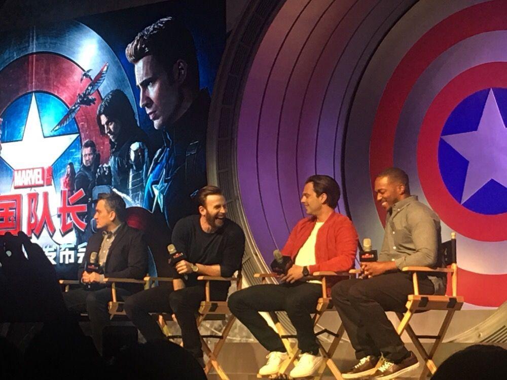 'Captain America: Civil War' Press Conference in Beijing, April 19, 2016.
