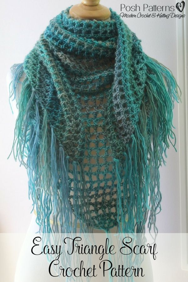Crochet Pattern A Quick And Easy To Crochet Triangle Scarf Pattern