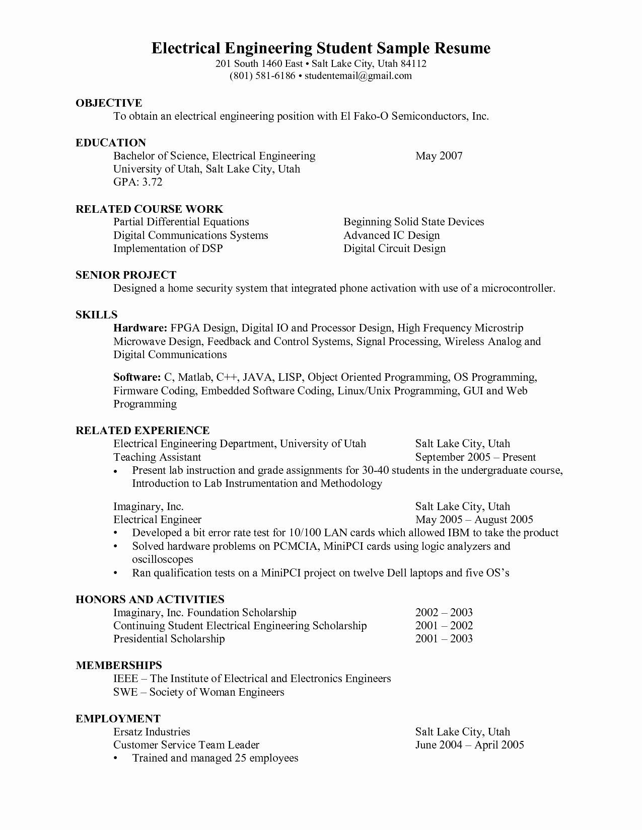 Civil Engineering Internship Resume Awesome 19 Civil Engineering