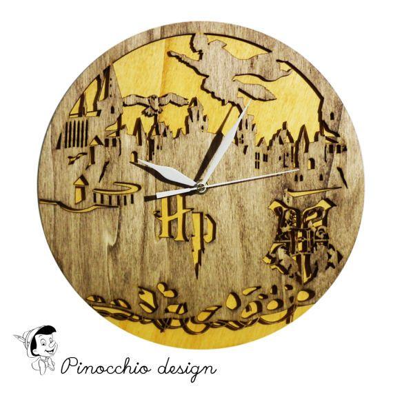 Harry Potter Wooden Wall Clock,Home Dיcor,Living Room Dיcor ...