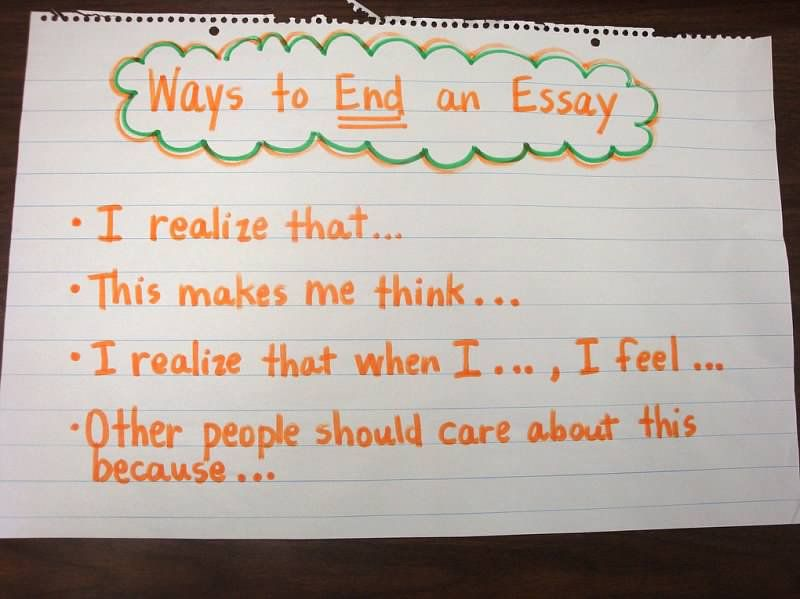 Ways to end an essay teaching writing pinterest school