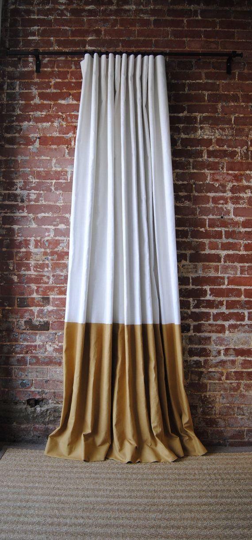 120 L Color Block Drapery Panel Custom Curtains 28 Color