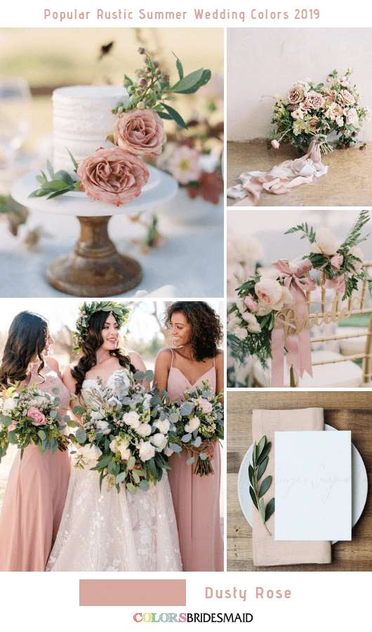 8 Popular Rustic Summer Wedding Color Ideas for 2019 No.4