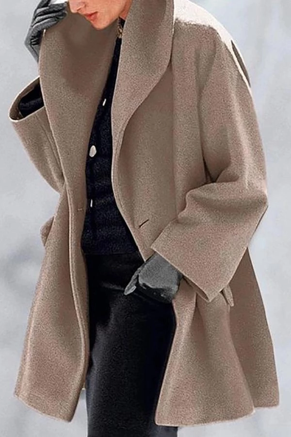 Solid Lapel Side Pockets Casual Coat shopingnova in 2020