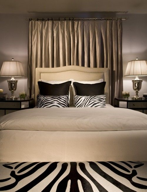 Fabulous Look Love The Neutrals With The Large And Small Zebra Pattern Bedroom Design Zebra Print Bedroom Eclectic Bedroom Lovely bedrooms with leopard accents