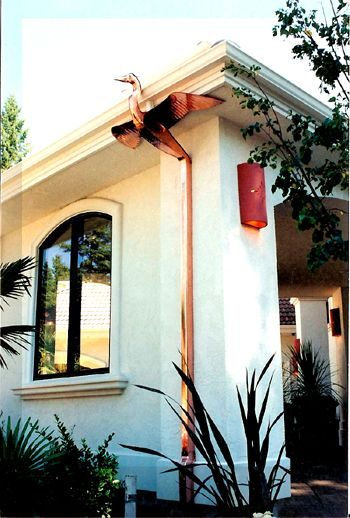Artistic Copper Downspouts By Art Of Rain In Washington And So Many More Options Rain Gutters Rain Chain Rain Water Collection System