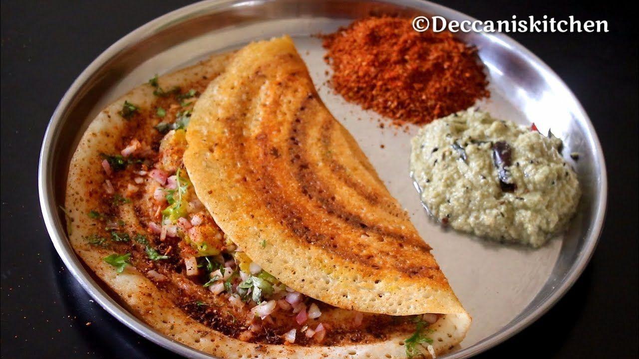 Ekdum Street Jaisa Masala Dosa Ghar Par Crispy Aloo Masala Dosa With Coconut Chutney Youtube Chutney Resep Makanan India Makanan