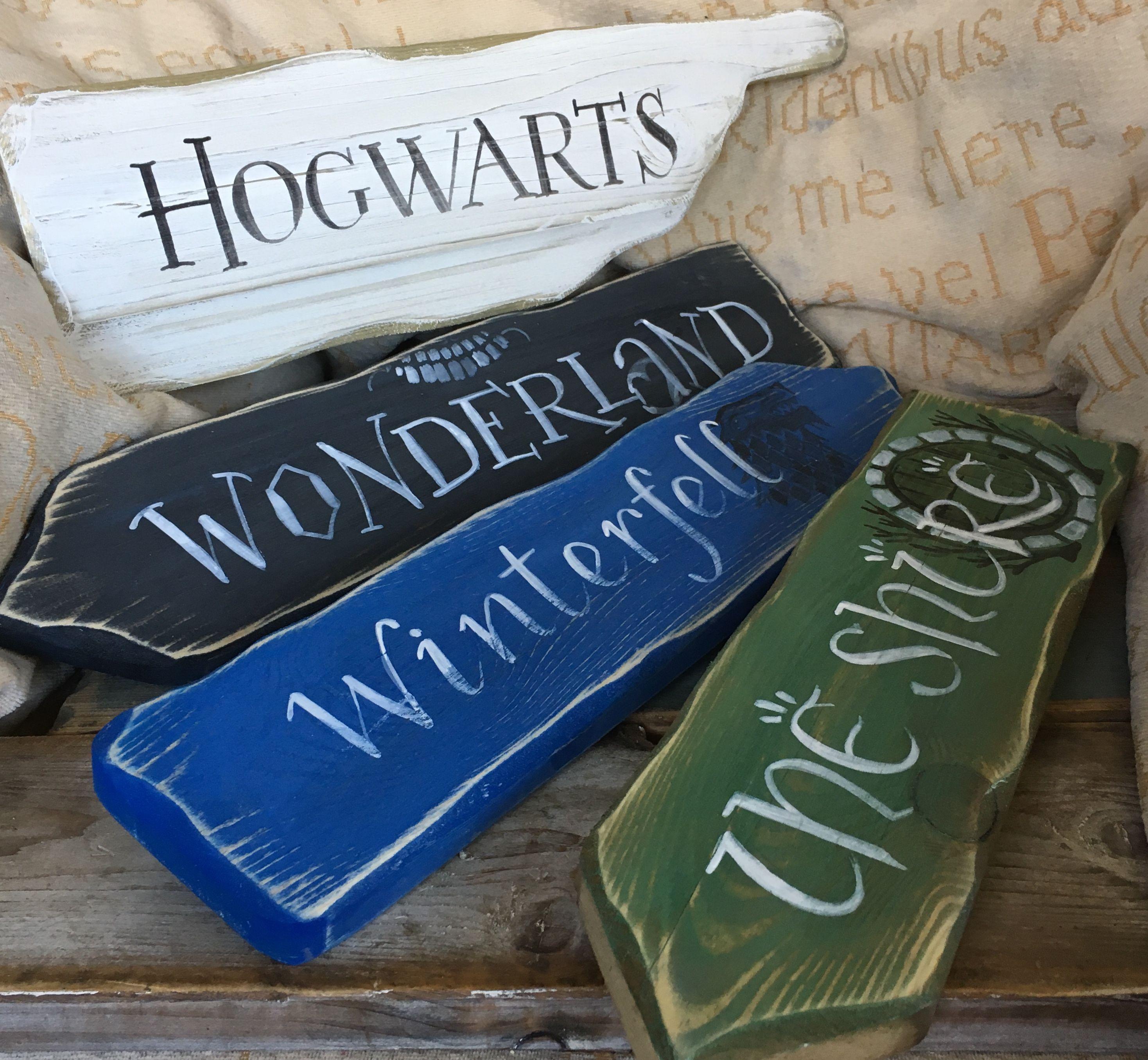 Fairytale Storybook Signpost Sign School Reading Corner