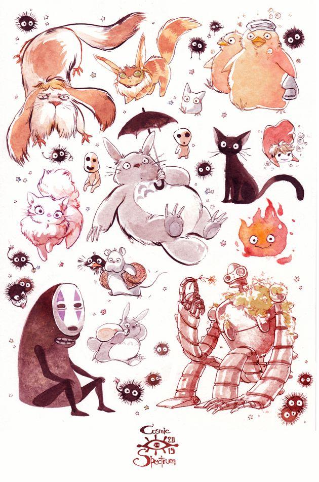 Miyazaki Tribute by CosmicSpectrumm on DeviantArt