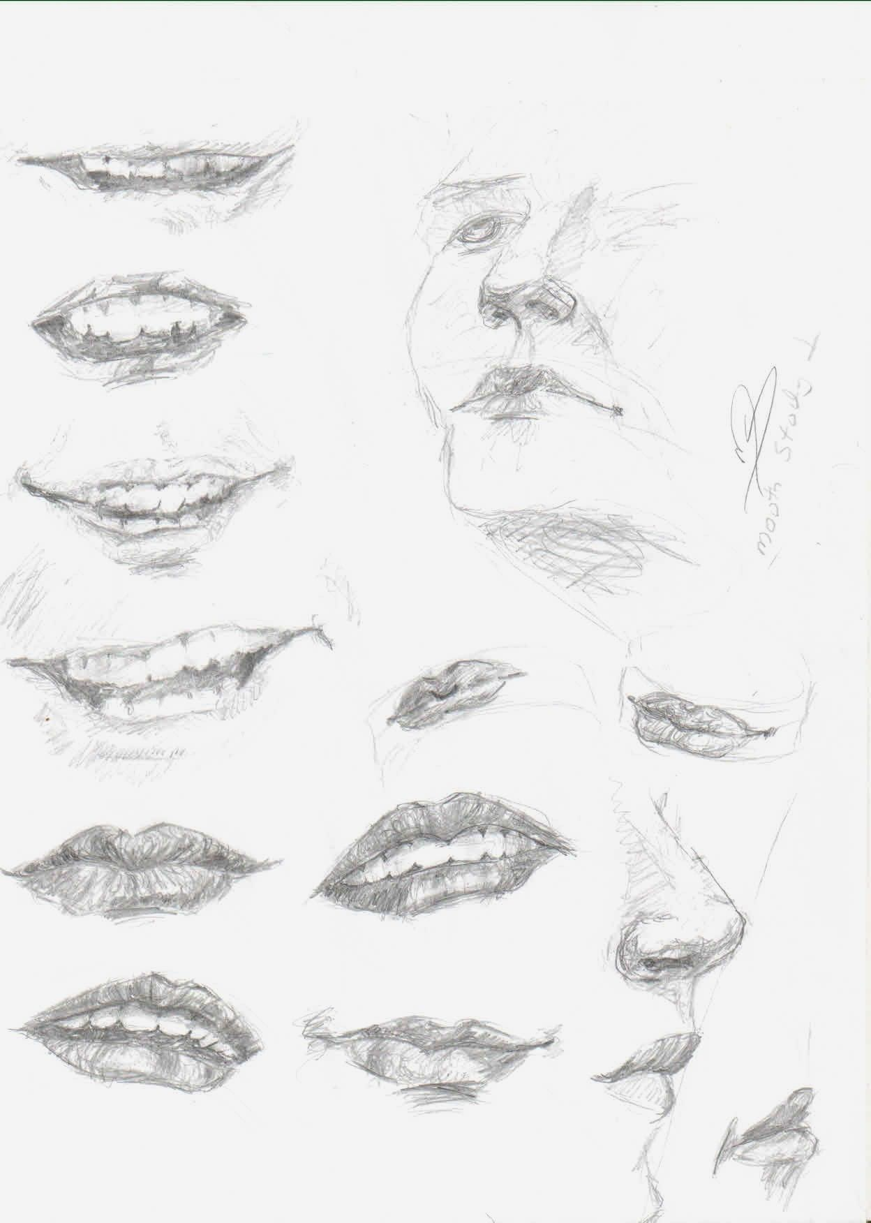 How To Draw Lips  Quick Mouth Study ~ How To Draw Mouth, Lips And